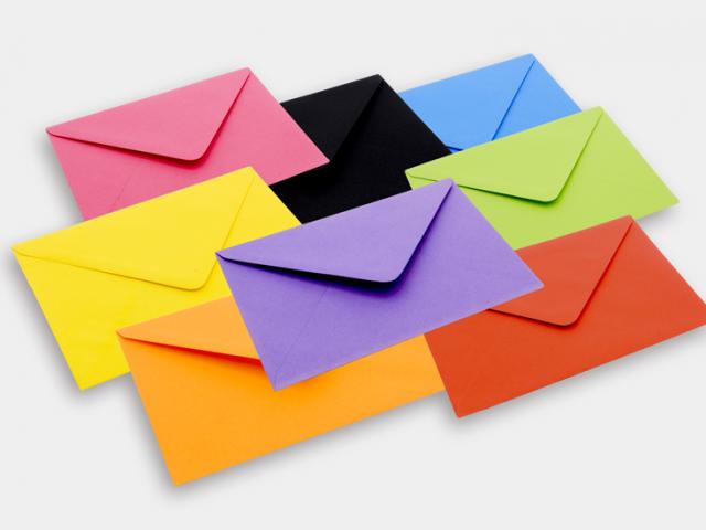 Colour Greeting Cards Envelopes