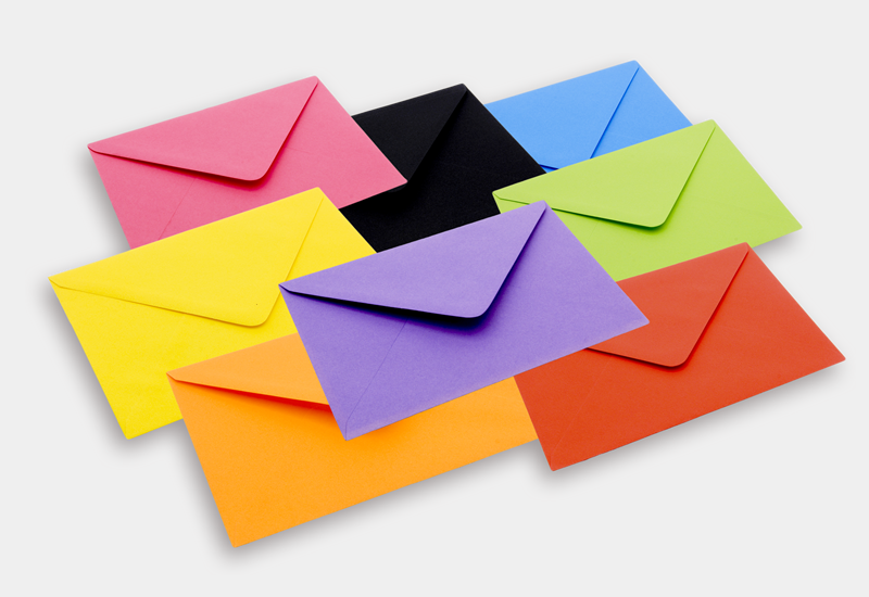 Colour Greeting Cards Envelopes