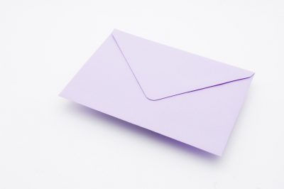 AMETHYST greetings card envelope