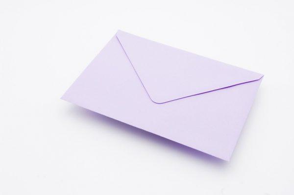 AMETHYST greetings card envelope