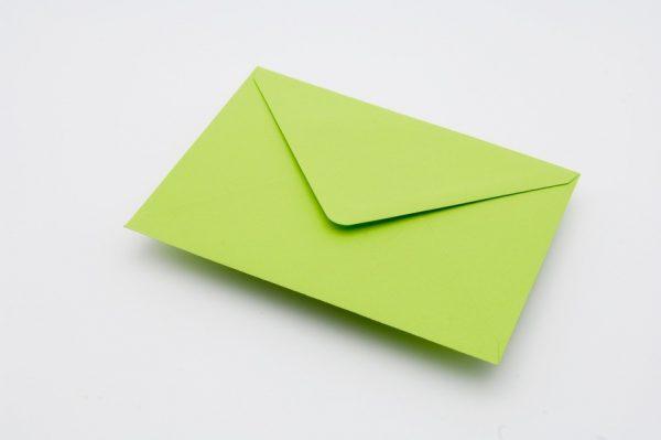 Bright Green Greetings Card Envelope