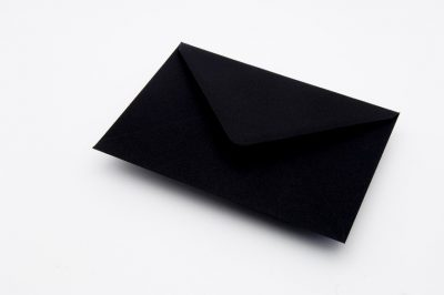 Black Greetings Card Envelopes