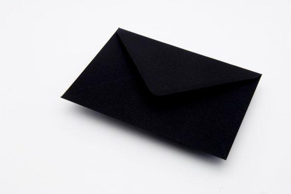 Black Greetings Card Envelopes