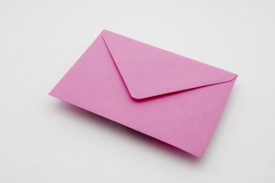 CANDY PINK Greetings Card Envelope