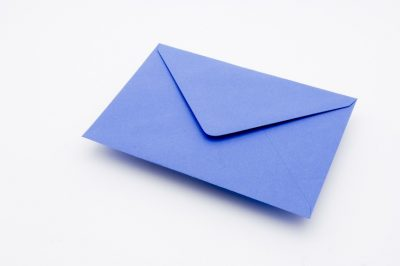 CHINA BLUE Greetings Card Envelope