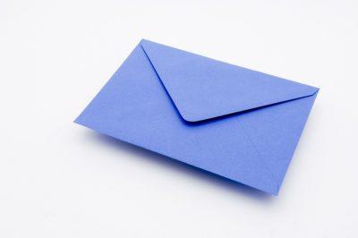 CHINA BLUE Greetings Card Envelope