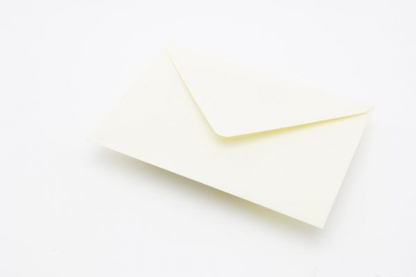 Fresh Cream Pearlesecent Greetings Card Envelope