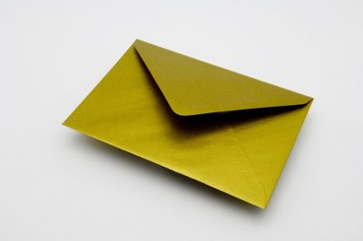 GOLD METALLIC greetings card envelope