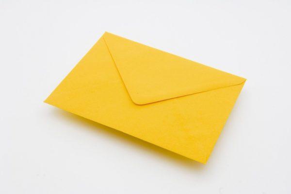 harvest yellow greetings card envelope
