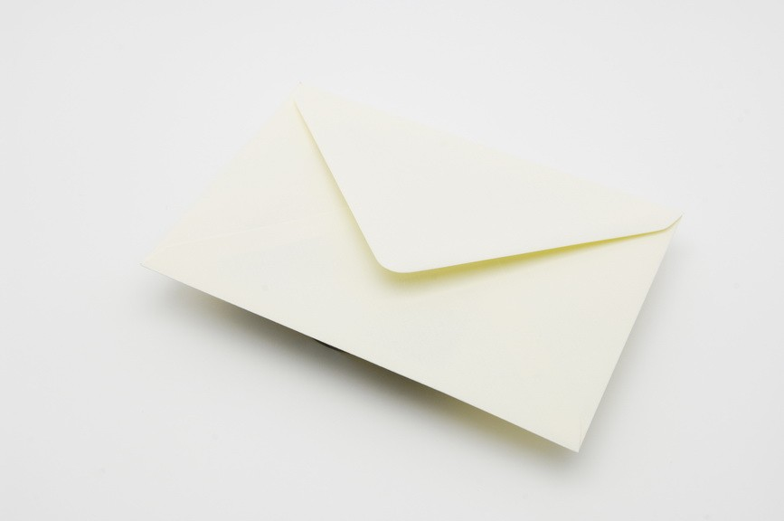 Vanilla Greetings Card envelope
