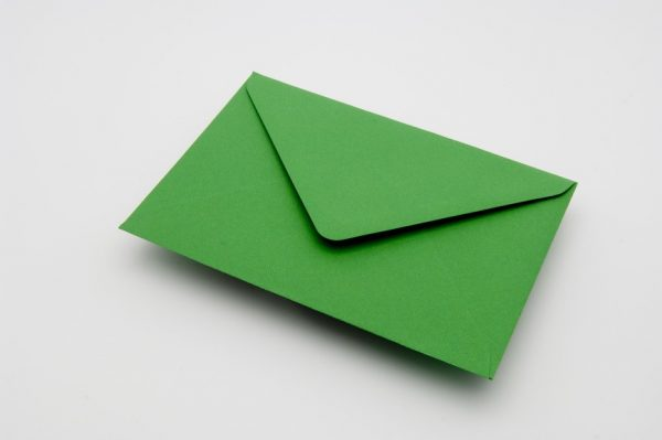 meadow green greetings card envelope