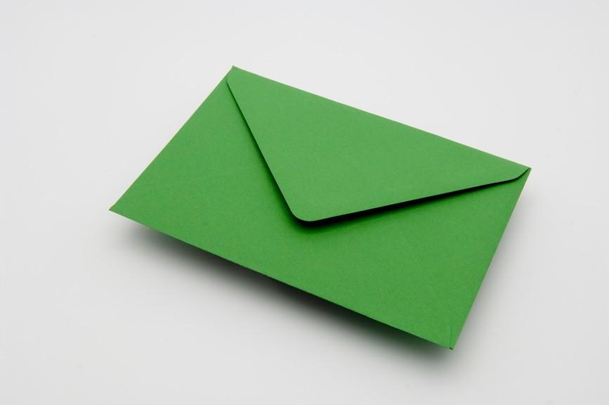 meadow green greetings card envelope