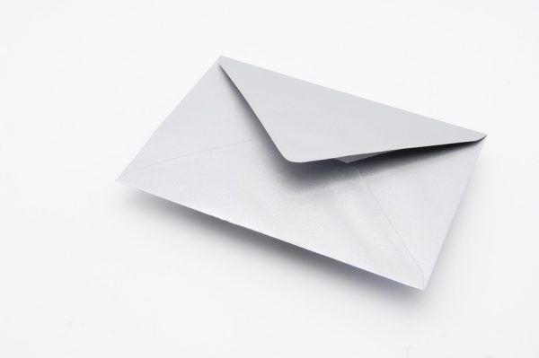 SILVER GREETINGS CARD ENVELOPE