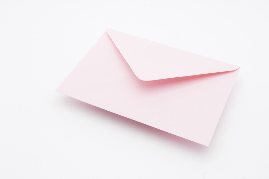 Soft Pink Greetings Card Envelopes