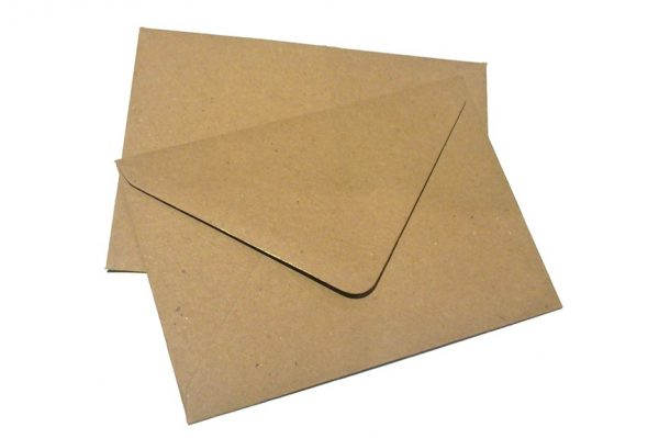 Fleck Kraft Greetings Card Envelopes
