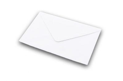 white laid greetings card envelope