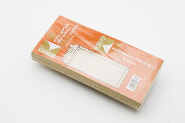 Heavy Weight Peel and Seal Pocket Manilla Envelopes 229 x 102 mm