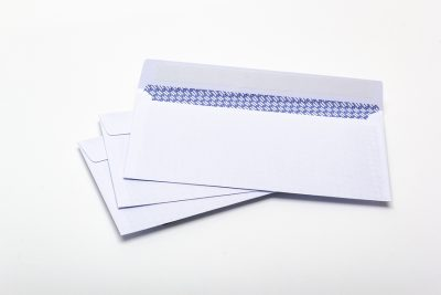 white window envelope DL