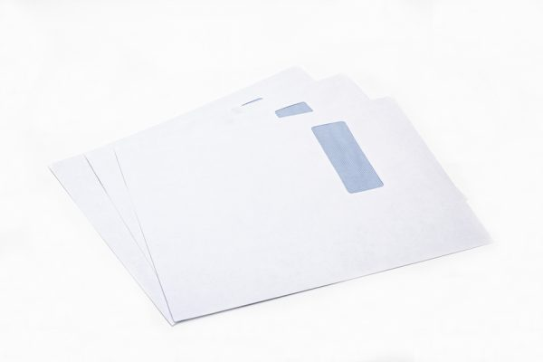 white window envelope C4