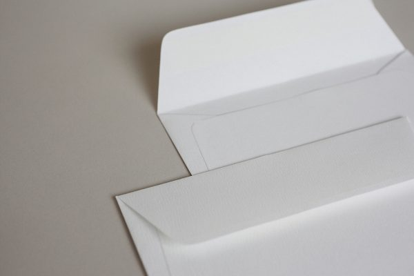 Luxury White Textured (Accent Antique Alabaster) 110gsm Peel & Seal Wallet Style Envelopes