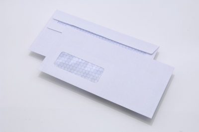 white DL window envelopes