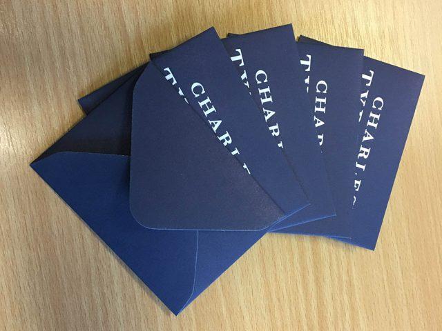 small blue envelopes Charles Tyrwhitt