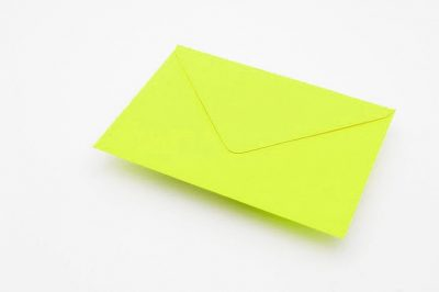 lime green envelopes