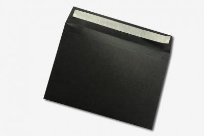 peel and seal black envelope