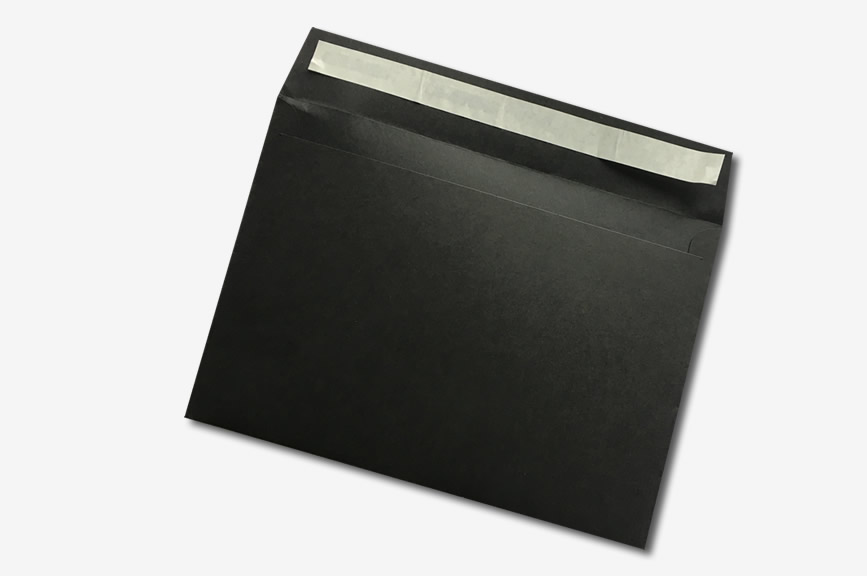 peel and seal black envelope