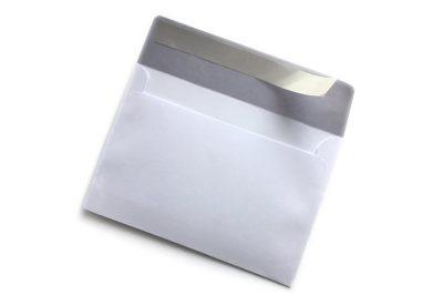 peel and seal white envelope