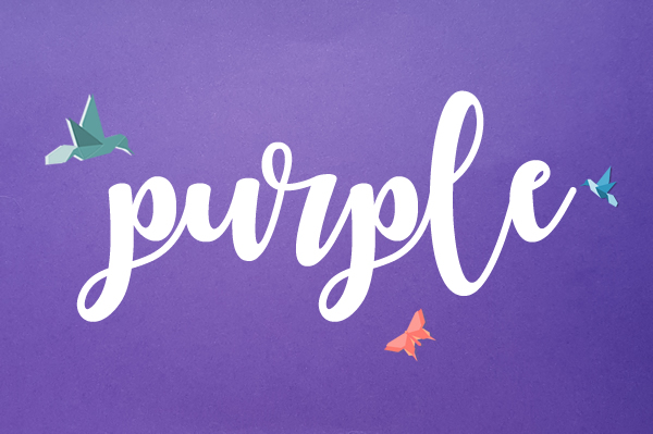 purple envelope paper