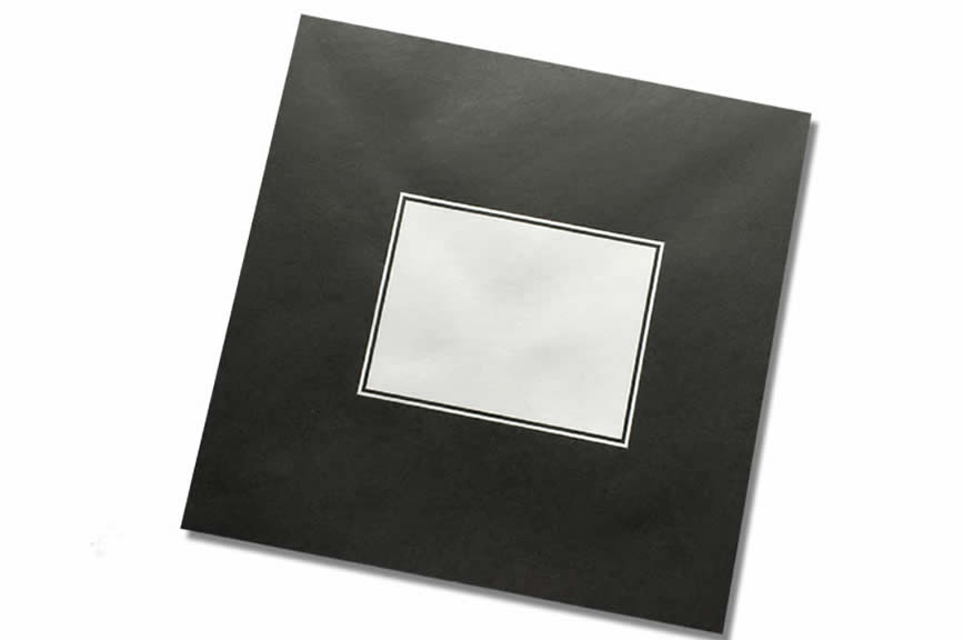 Limited Edition Printed Black with White Square 1oogsm Greetings Card Envelope made from a superior paper. Available in 155x155mm - Square - Packs of 20, 500 and 1000