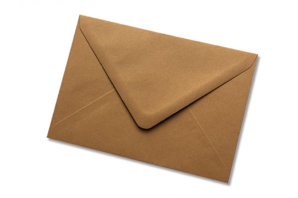 York Brown Greetings Card Envelope