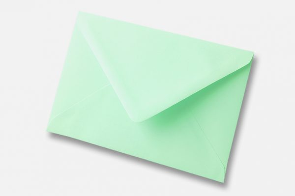 Leaf bird Green Mint Green envelope