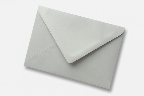 Owl Grey soft light grey envelope