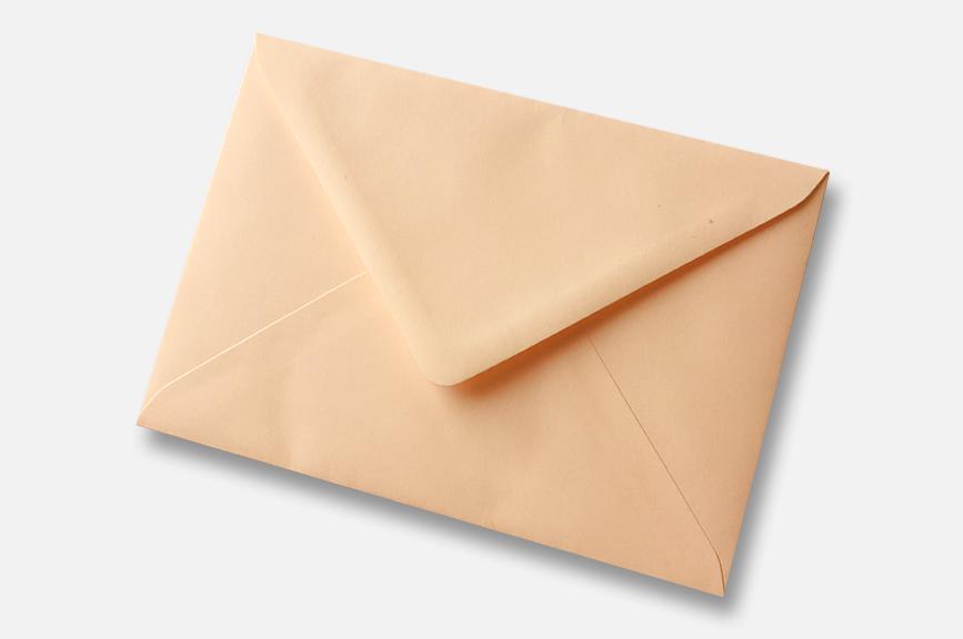 Salmon pink Coral Orange greetings card envelope