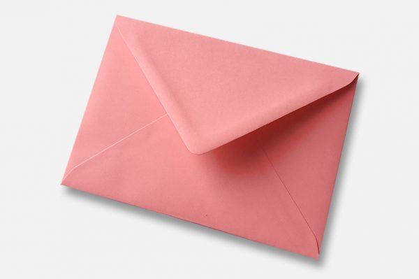 Sunrise blush pink greetings card envelope