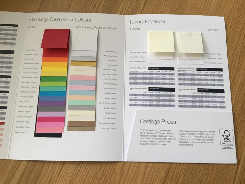 Envelope Paper Samples