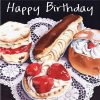 Greetings Card Cream Cakes Illustration