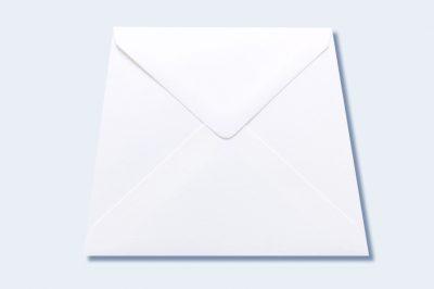 luxury envelope callisto soft white 130 x 140 mm